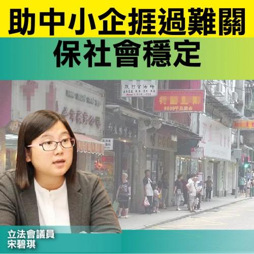 【支援中小企】宋碧琪:助中小企捱過難關 保社會穩定
